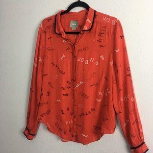 Maeve Red (London, Paris) Top Shirt  12